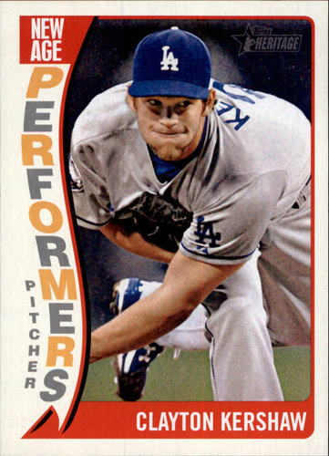 Photo of 2014 Topps Heritage New Age Performers #NAPCK Clayton Kershaw