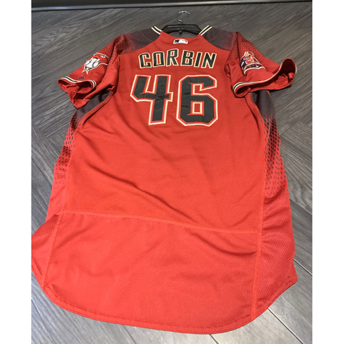Photo of 2018 Team-Issued Patrick Corbin Jersey