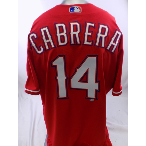 Photo of Team-Issued Red Asdrubal Cabrera Jersey - Size 48
