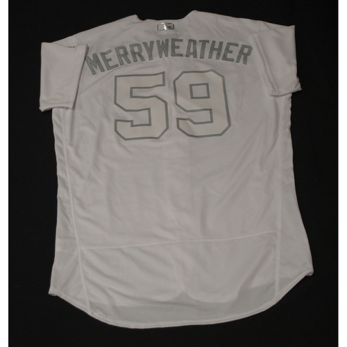 Photo of Julian Merryweather Toronto Blue Jays Team-Issued 2019 Players' Weekend Jersey