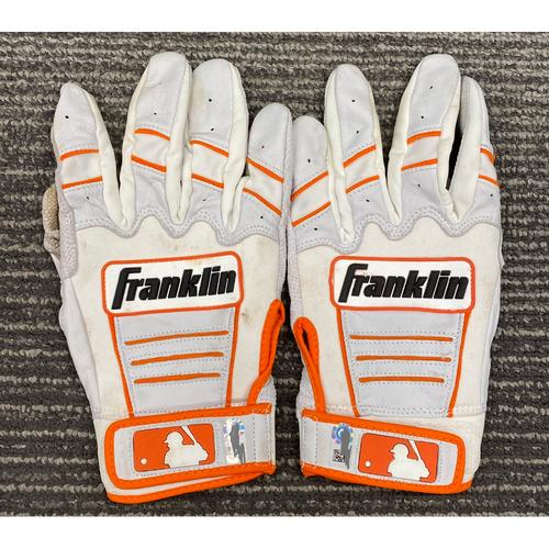 Photo of Team Issued Batting Gloves - #10 Evan Longoria
