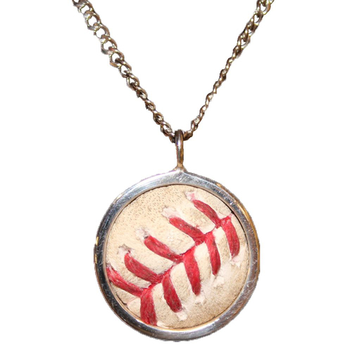 Photo of Game-Used Baseball Necklace: Jorge Soler Hit