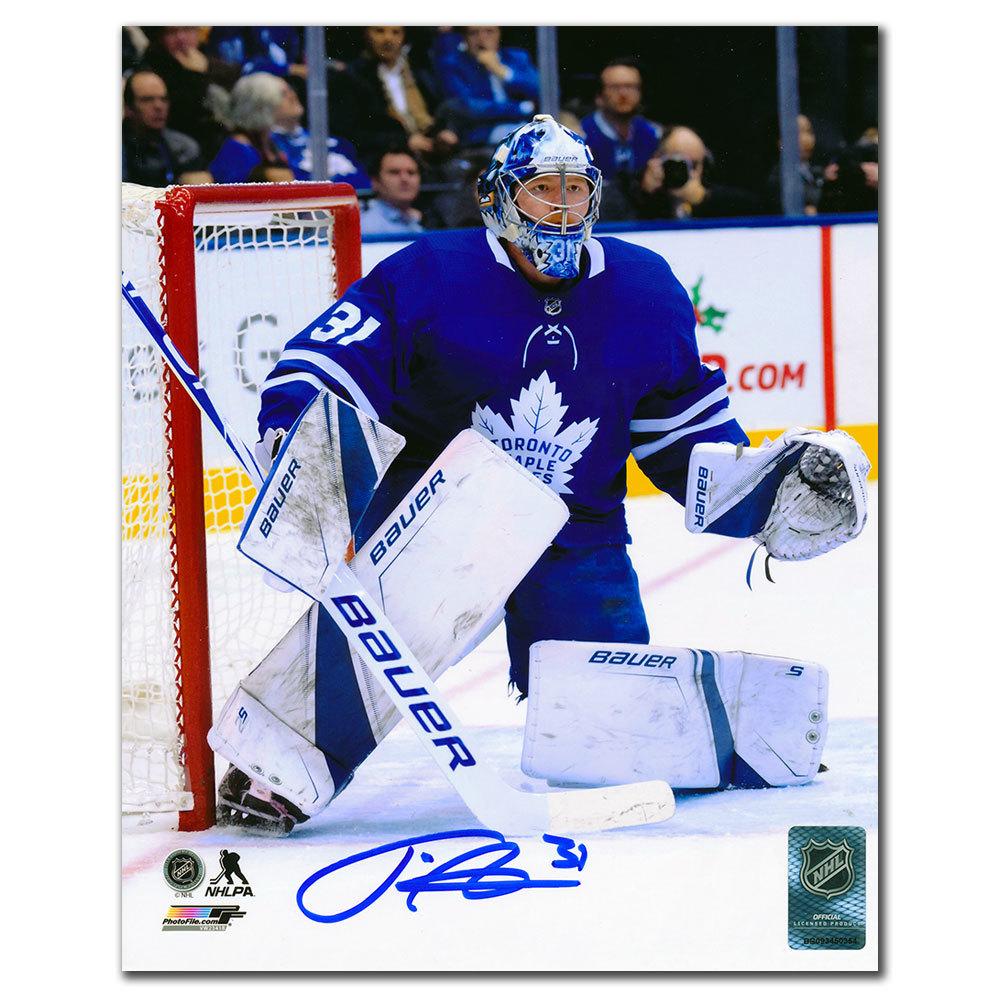 Frederik Andersen Toronto Maple Leafs ACTION Autographed 8x10
