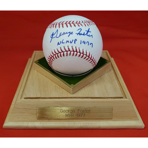 Photo of George Foster Autographed Bat and Baseball Package with 2008 Signed Ticket