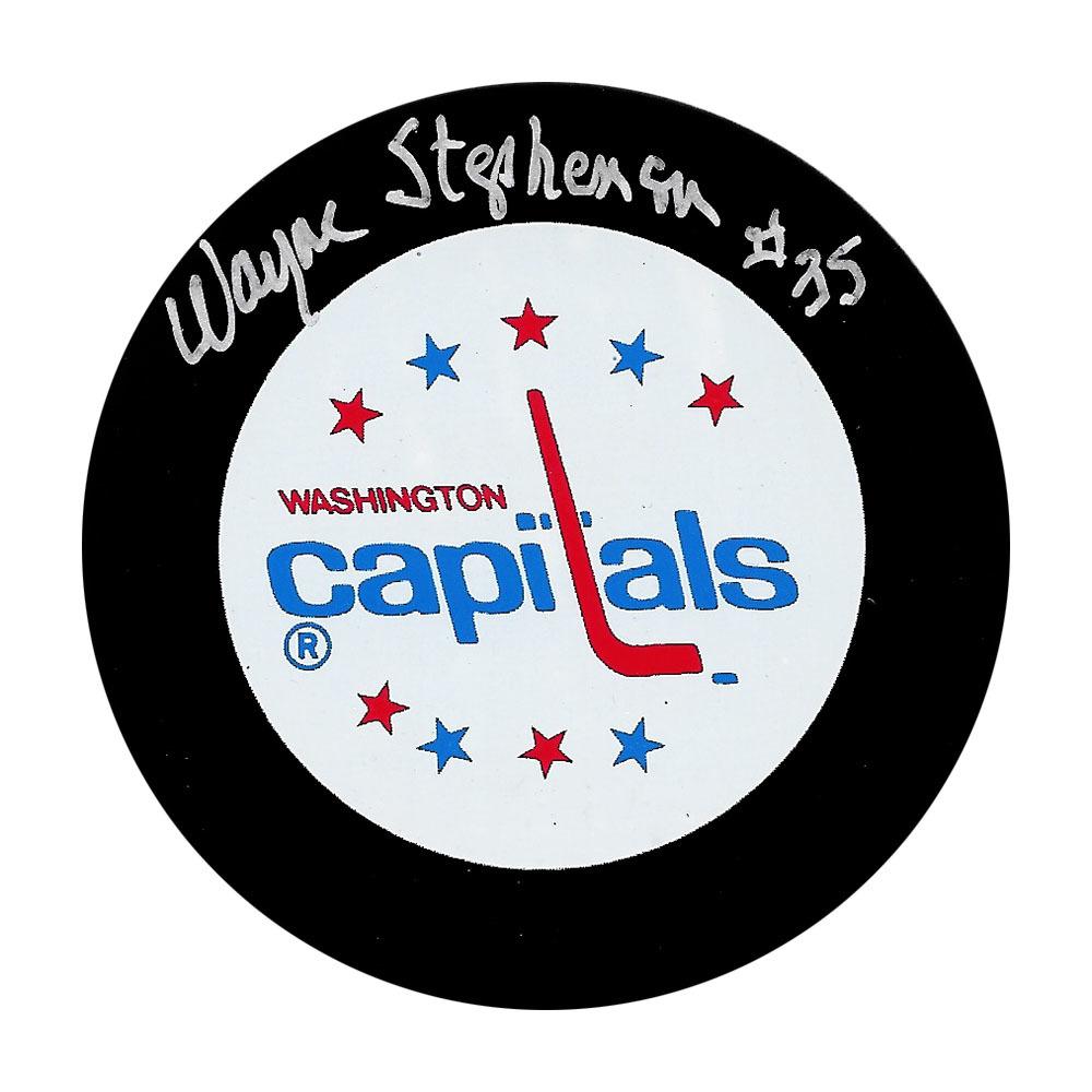 Wayne Stephenson Autographed Washington Capitals Puck