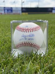 Photo of Roy White Signed Baseball