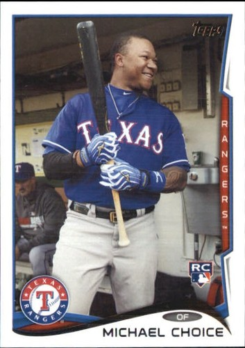 Photo of 2014 Topps Update #US241B Michael Choice SP/Blue jersey
