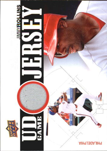 Photo of 2010 Upper Deck UD Game Jersey #JR Jimmy Rollins