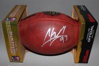 NFL - CARDINALS CALAIS CAMPBELL SIGNED AUTHENTIC FOOTBALL