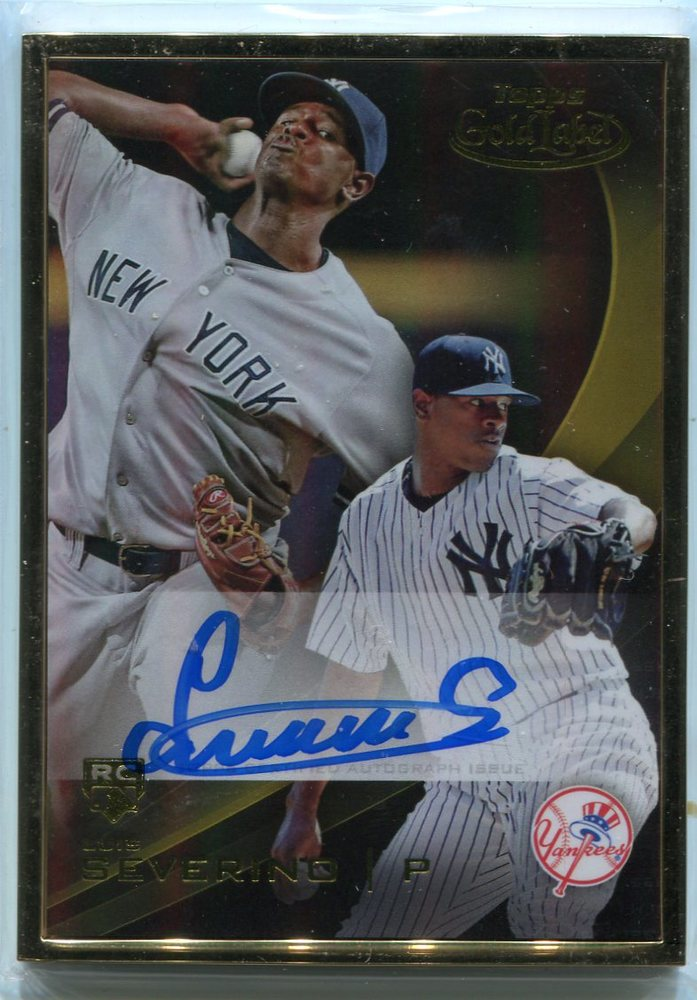 2016 Topps Gold Label Framed Autographs Gold Frame  Luis Severino