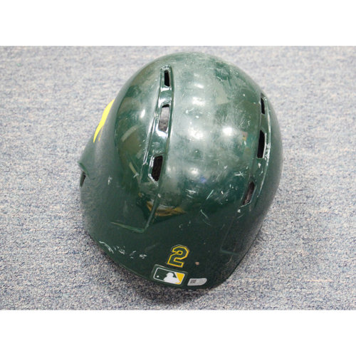 2017 Khris Davis Game-Used Helmet