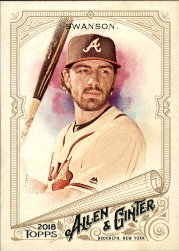 Photo of 2018 Topps Allen and Ginter #47 Dansby Swanson