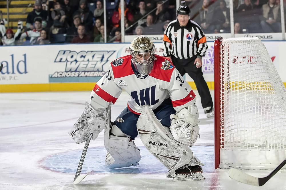 2019 Lexus AHL All-Star Challenge Jersey Worn and Signed by #30 Vitek Vanecek