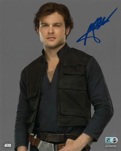 Alden Ehrenreich As Han Solo 8X10 AUTOGRPAHED IN 'BLUE' INK PHOTO
