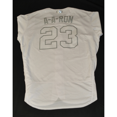 "Photo of Aaron ""A-A-RON"" Altherr New York Mets Game-Used 2019 Players' Weekend Jersey"