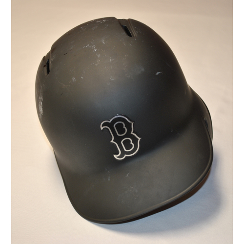 "Photo of Xander ""X-MAN"" Bogaerts Boston Red Sox Game-Used 2019 Players' Weekend Helmet"
