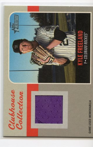 Photo of 2019 Topps Heritage Clubhouse Collection Relics #CCRKF Kyle Freeland