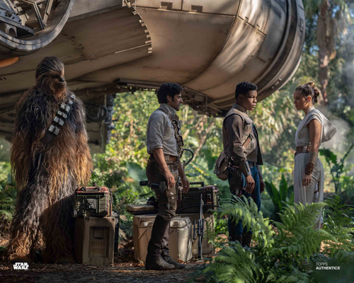 Rey, Poe Dameron, Finn and Chewbacca