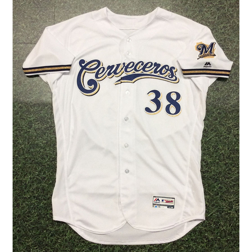 Photo of Devin Williams 2019 Team-Issued Cerveceros Jersey