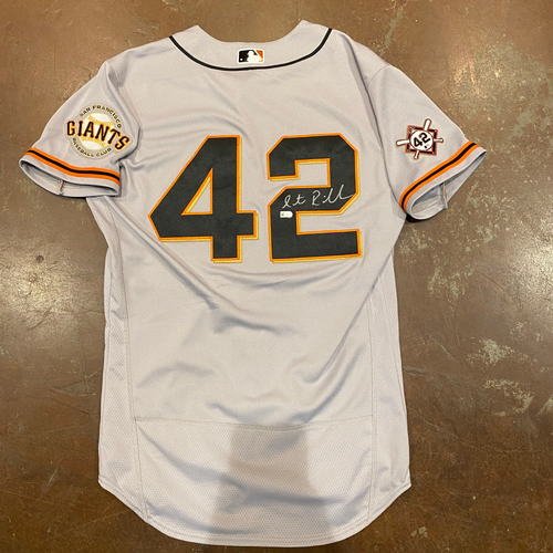 Photo of 2020 Jackie Robinson Day Jersey - Team Issued & Autographed - #00 Antoan Richardson (Coach) - Size 42