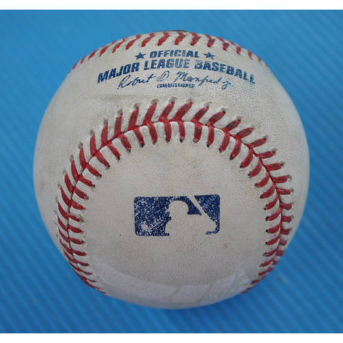 Photo of Game-Used Baseball - 2020 NLCS - Atlanta Braves vs. Los Angeles Dodgers - Game 2 - Pitcher: Ian Anderson, Batter: Cody Bellinger (Flyout to RF) - Bot 4