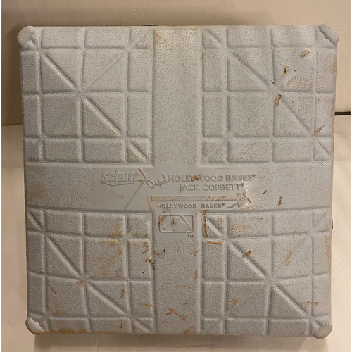Photo of Game-Used First Base Used During Madison Bumgarner's 7-Inning No Hitter - 4/25/21 Game 2 - 1st Base Used During 7th Inning