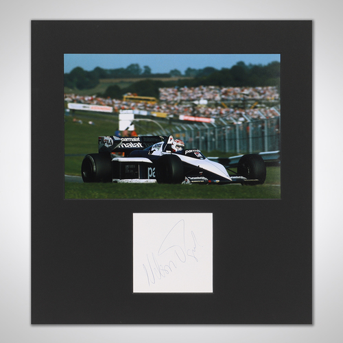 Photo of Nelson Piquet 1983 Signed Mounted Photograph