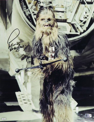 Peter Mayhew as Chewbacca 11x14 Autographed in Black Ink Photo