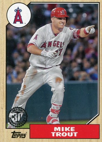 Photo of 2017 Topps '87 Topps #8750 Mike Trout