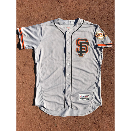 Photo of San Francisco Giants - 2017 Game-Used Jersey - #66 Gorkys Hernandez - Road Alt - Worn 9/24/17 - Jersey Size 48