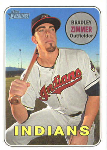 Photo of 2018 Topps Heritage #61 Bradley Zimmer