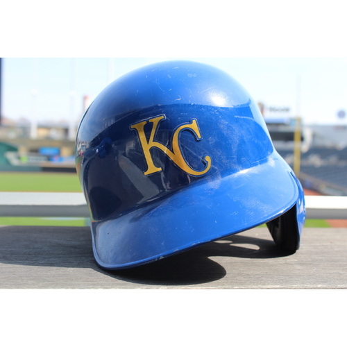 Photo of Game-Used Batting Helmet: Cheslor Cuthbert 122nd Career Hit (Size 7 3/8 - DET at KC - 9/2/16)