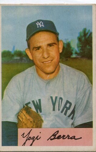 Photo of 1954 Bowman #161 Yogi Berra  -- Hall of Famer