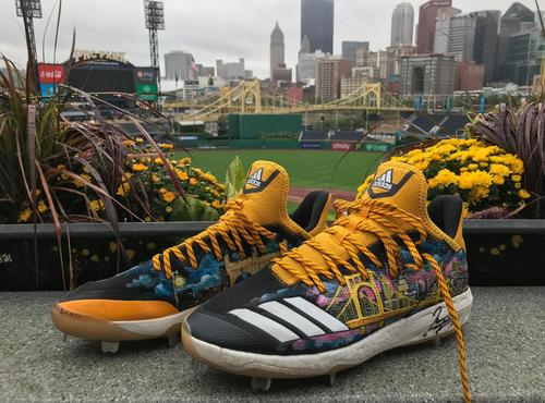 Photo of Jameson Taillon Autographed Game-Used Cleats - 6 IP, 5 H, 1 ER, 8 K, Winning Pitcher
