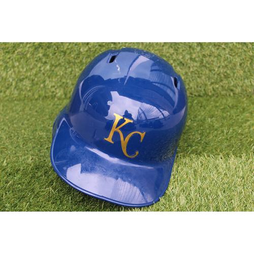 Photo of Game-Used Batting Helmet: Alex Gordon (Size 7 3/4 - CLE @ KC - 9/28/18)
