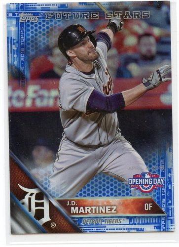 Photo of 2016 Topps Opening Day Blue Foil #OD89 J.D. Martinez