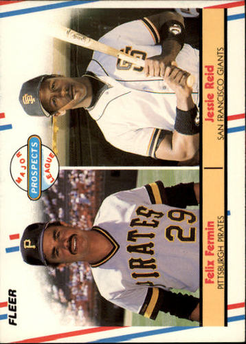 Photo of 1988 Fleer #643 Felix Fermin/Jesse Reid RC