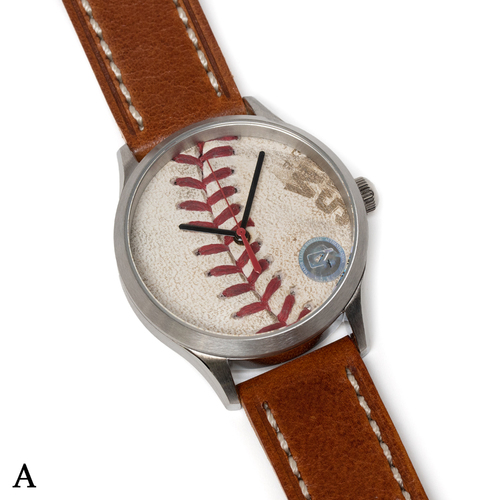 Photo of Tokens & Icons Chicago Cubs 2016 World Series Game Used Baseball Watch W/ Marks - A Game 2