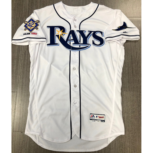 Photo of Team Issued Jackie Robinson Day Jersey - Size 44