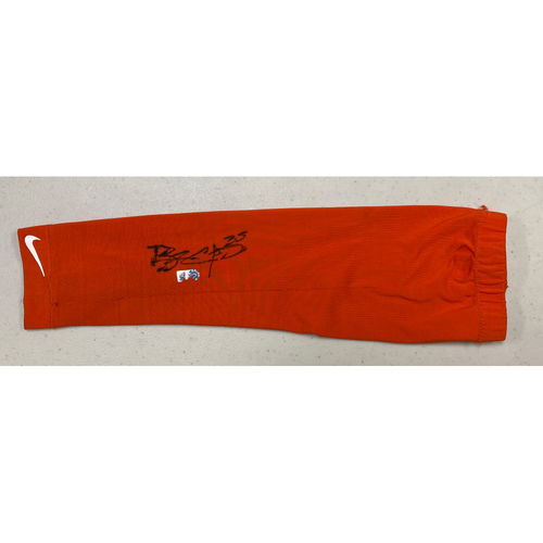 Photo of 2020 Cyber Monday Sale - #35 Brandon Crawford Team Issued Autographed Orange Nike Arm Sleeve