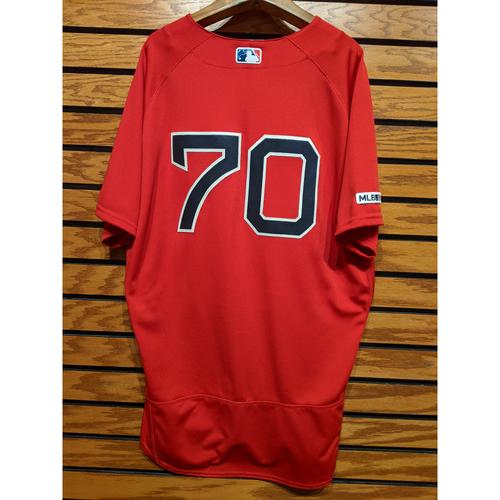 Ryan Brasier #70 Game Used Red Home Alternate Jersey
