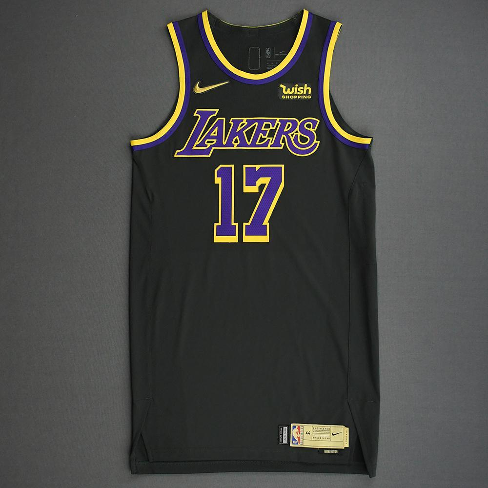 Dennis Schroder - Los Angeles Lakers- Game-Worn Earned Edition ...