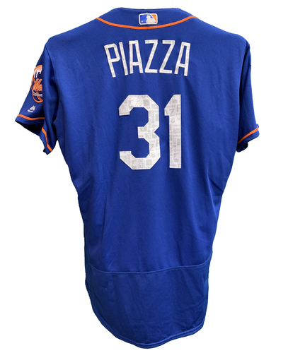 Photo of Mike Piazza #31 - Team Issued Blue Alt. Home Jersey - 2018 Spring Training