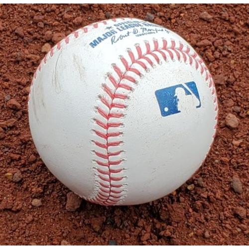 Photo of 2021 Phillies Game-Used Baseball - Freddie Freeman Home Run