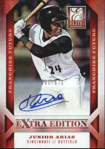 Photo of 2013 Elite Extra Edition Franchise Futures Signatures #70 Junior Arias/671