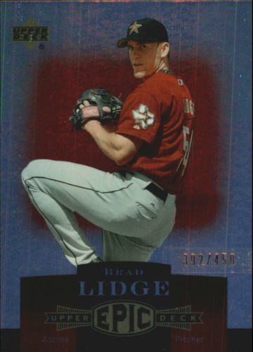 Photo of 2006 Upper Deck Epic #105 Brad Lidge /450
