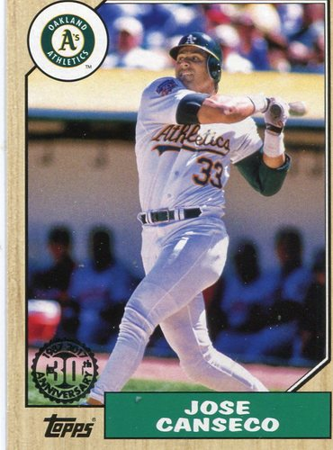 Photo of 2017 Topps '87 Topps #8752 Jose Canseco
