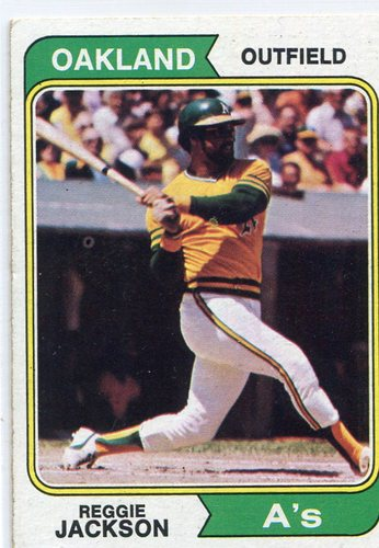 Photo of 1974 Topps #130 Reggie Jackson -- Hall of Famer
