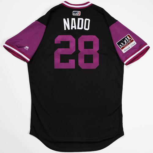 """Photo of Nolan """"Nado"""" Arenado Colorado Rockies Game-Used 2018 Players' Weekend Jersey"""