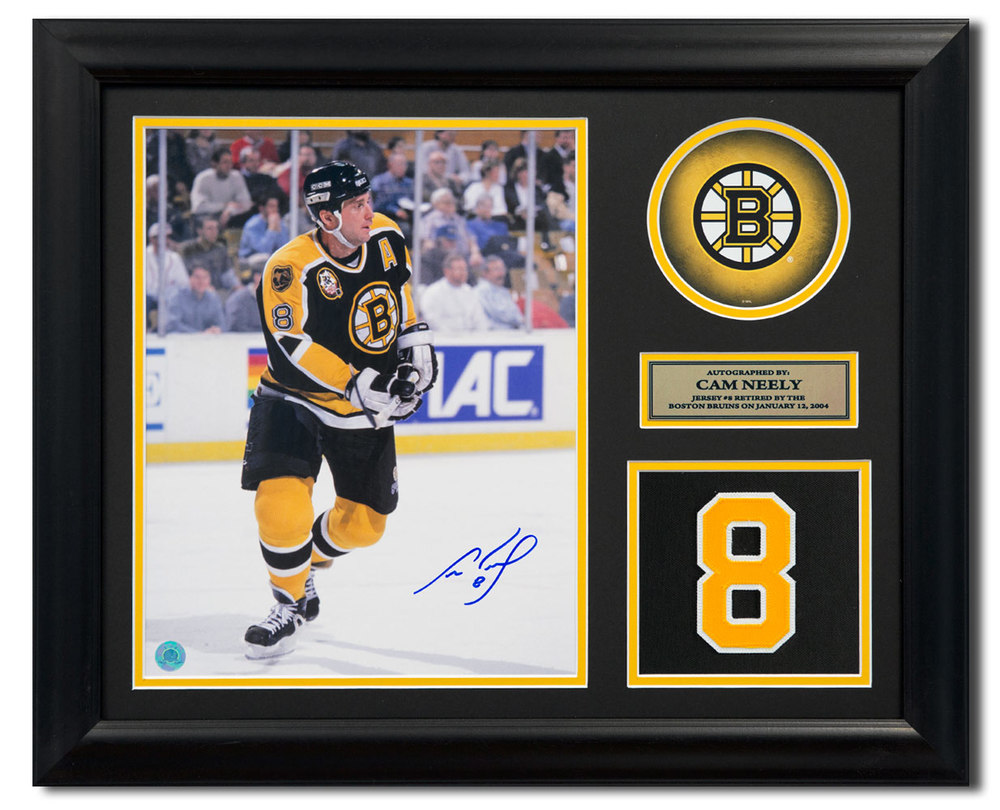 Cam Neely Boston Bruins Signed Retired Jersey Number 23x19 Frame
